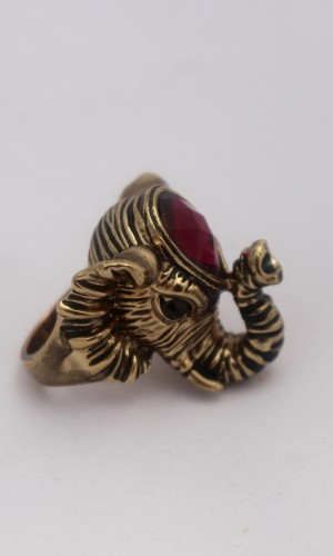 Elephant Ruby Ring