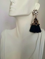 Black Swan Tassel Earrings