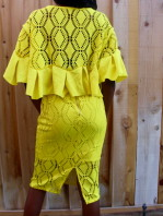 ruffle me up skirt set yellow